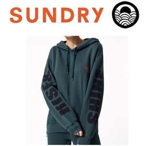 NWT Sundry Rise And Shine Side Zipper Hoodie sz 1